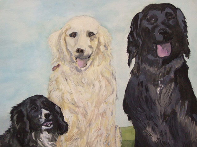 Dog commisioned painting